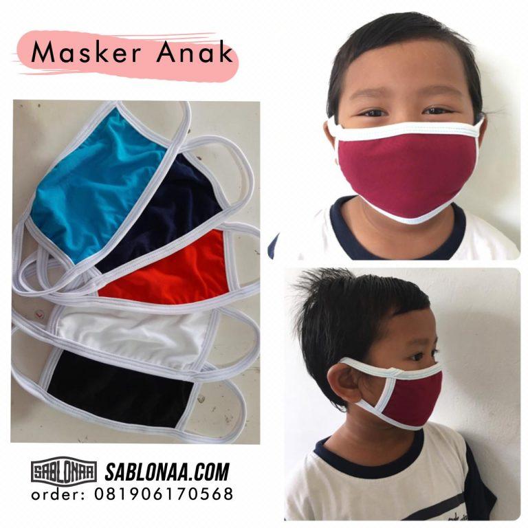 Jual Produk Grosir Masker Kain Katun Anak di Jakarta